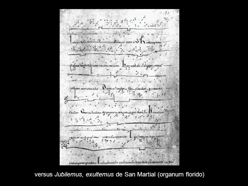 versus Jubilemus, exultemus de San Martial (organum florido)