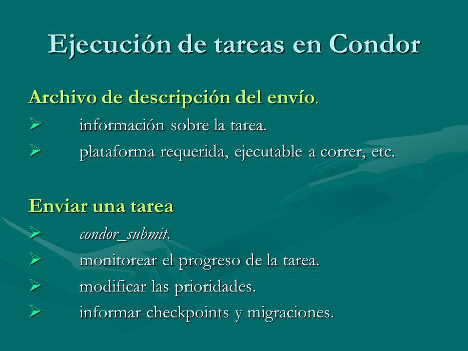 Ejecución de tareas en Condor