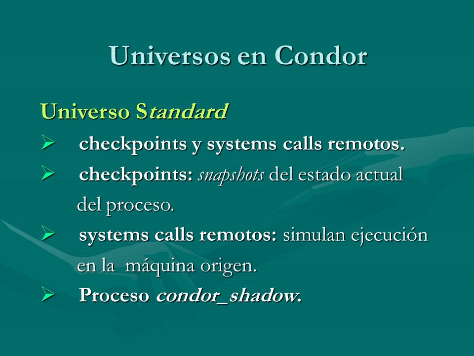 Universos en Condor Universo Standard