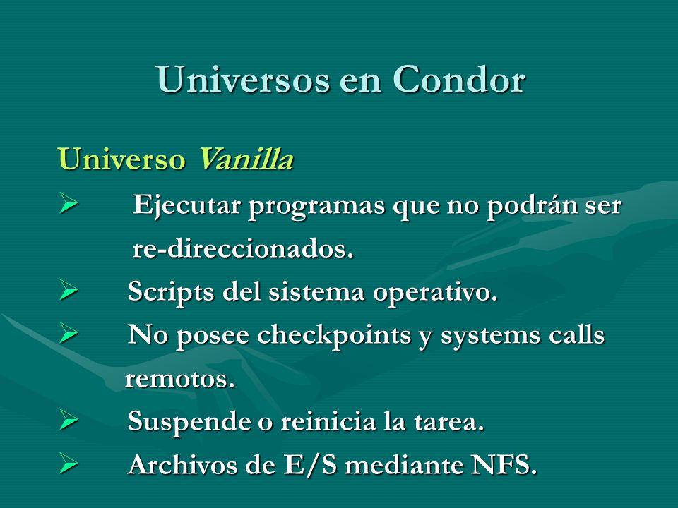 Universos en Condor Universo Vanilla