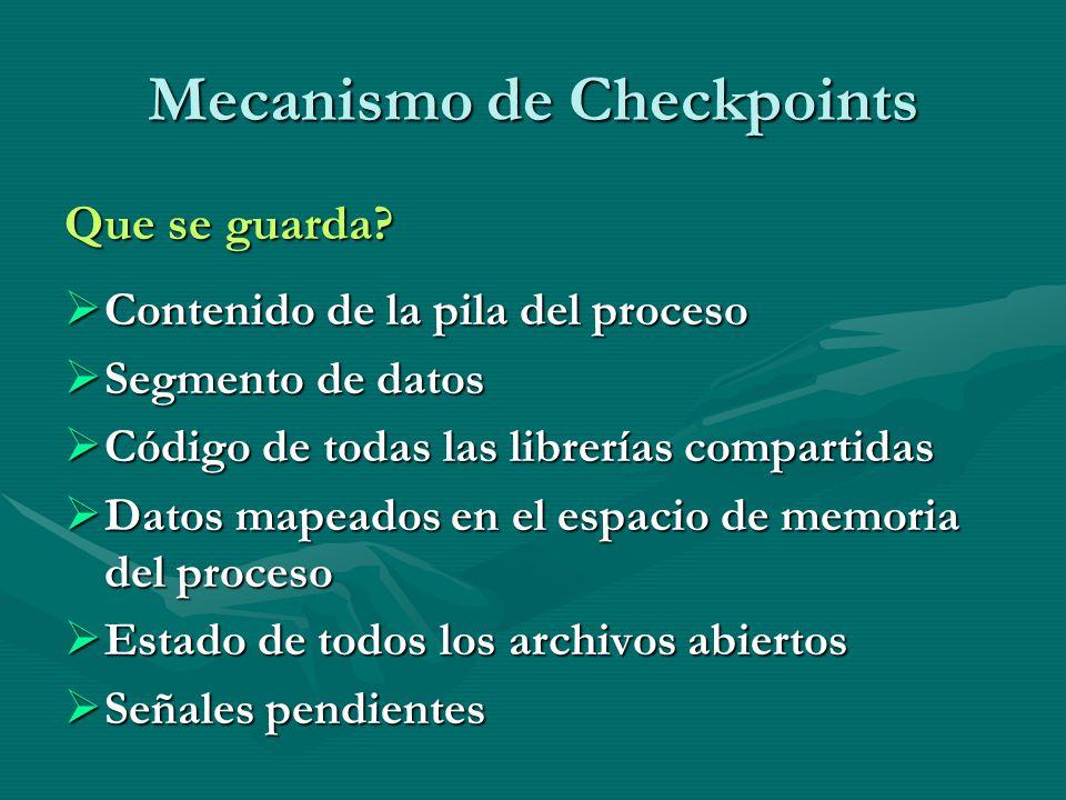 Mecanismo de Checkpoints