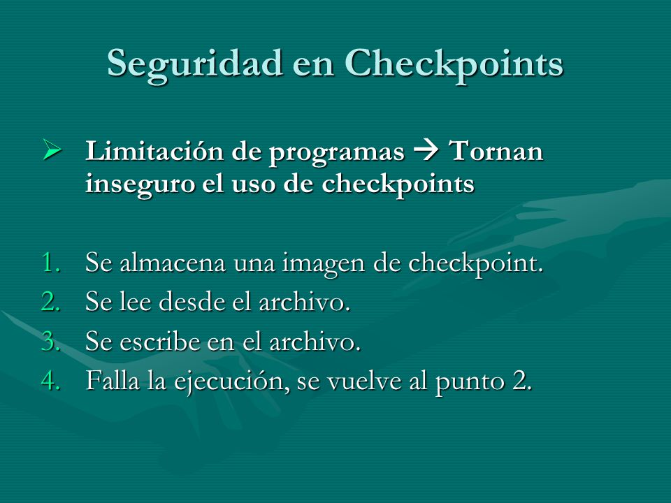 Seguridad en Checkpoints