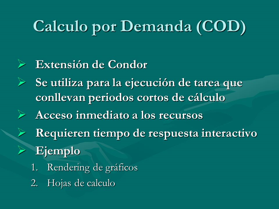 Calculo por Demanda (COD)