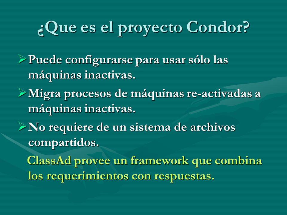 ¿Que es el proyecto Condor