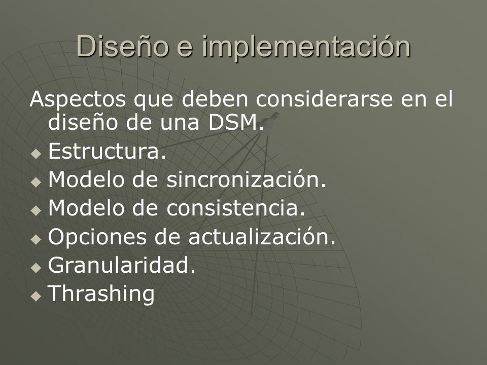 Diseño e implementación