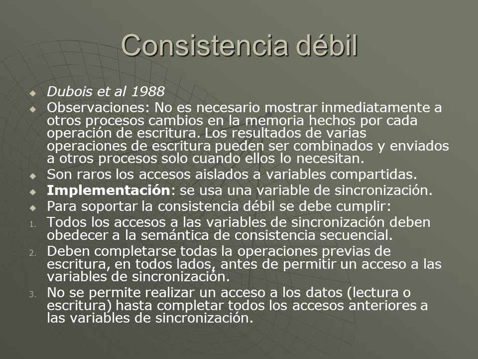 Consistencia débil Dubois et al 1988