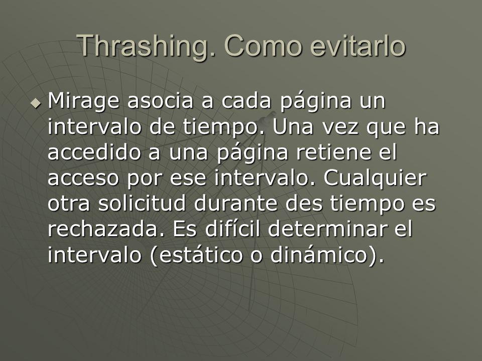 Thrashing. Como evitarlo