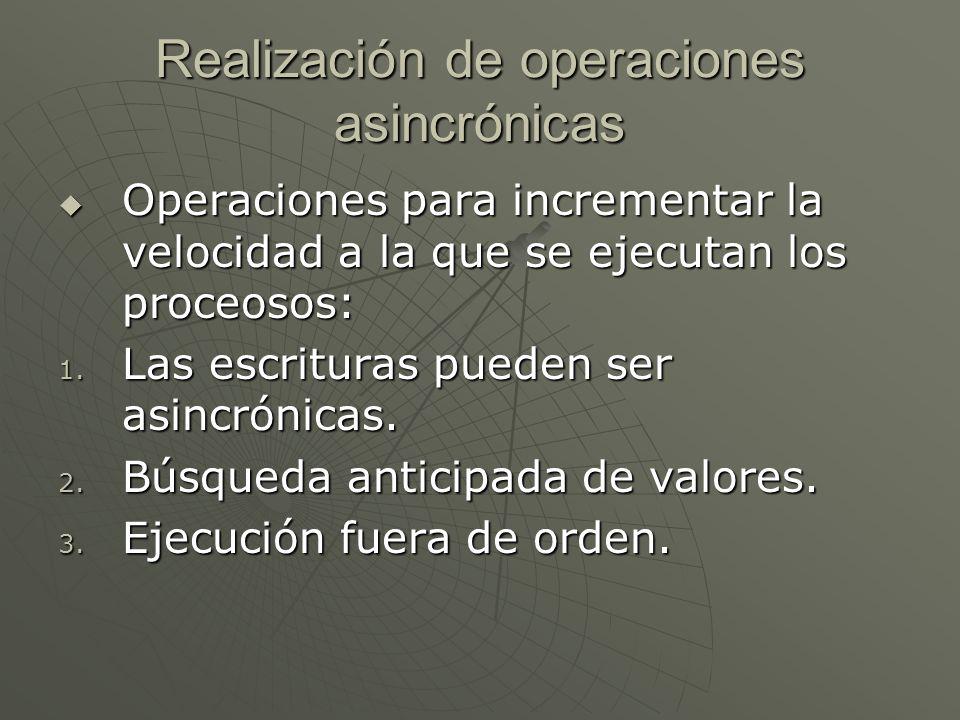 Realización de operaciones asincrónicas