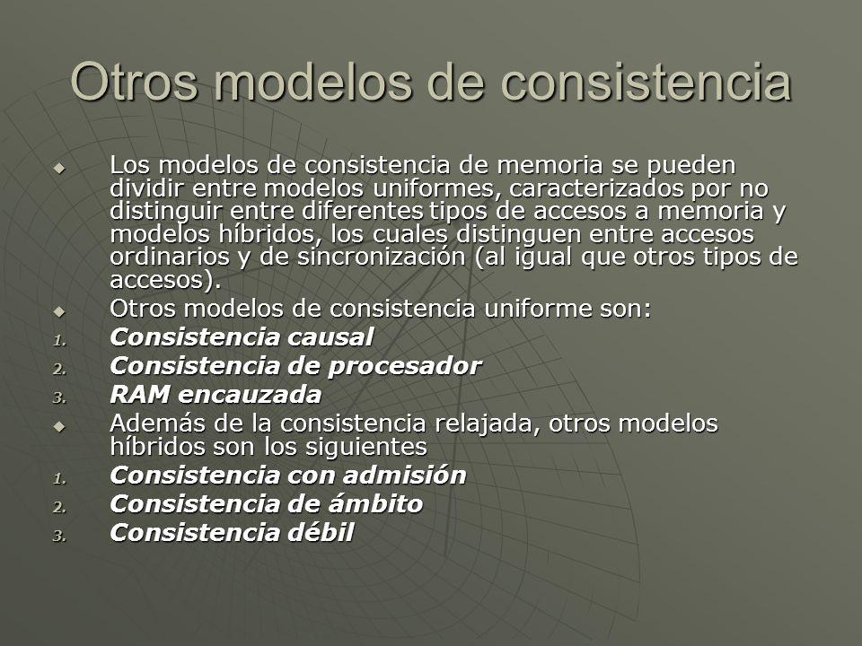 Otros modelos de consistencia