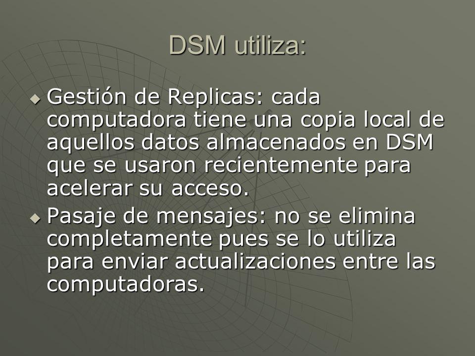 DSM utiliza:
