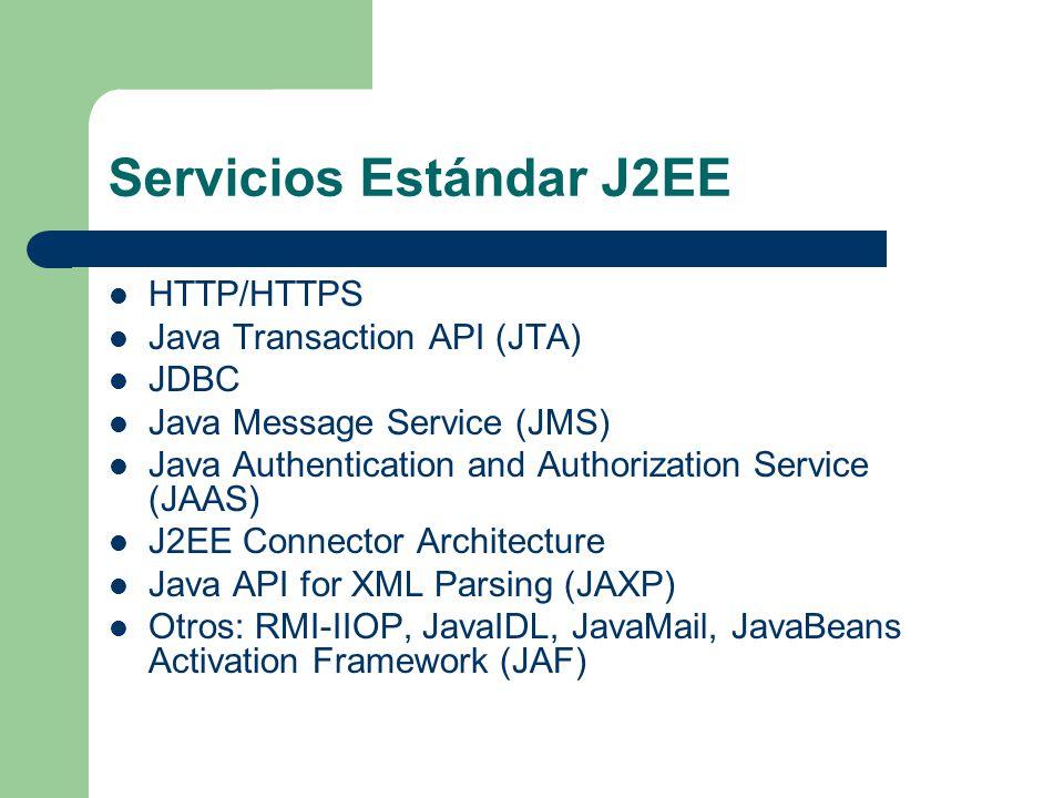 Servicios Estándar J2EE