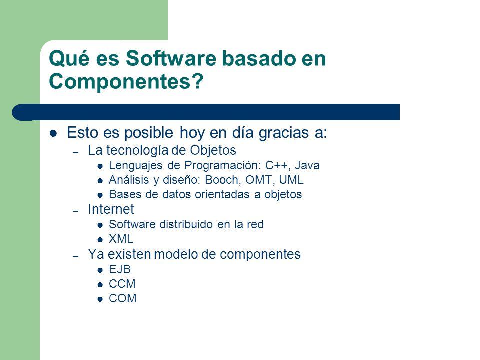 Qué es Software basado en Componentes