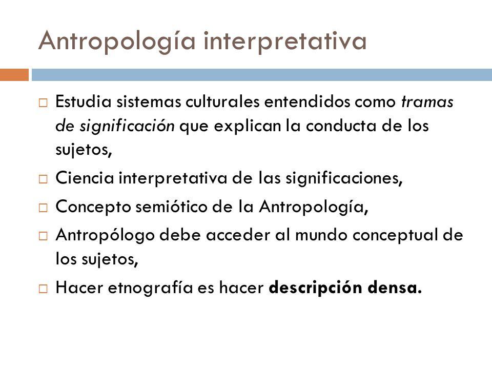 Antropología interpretativa