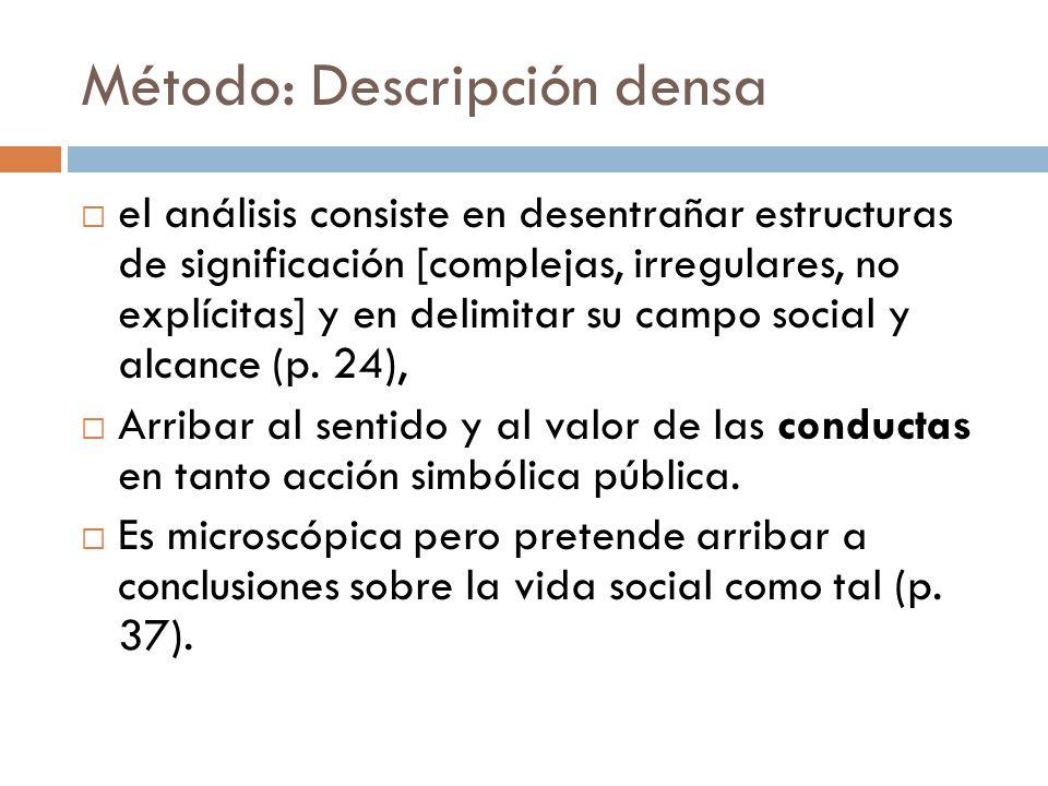 Método: Descripción densa