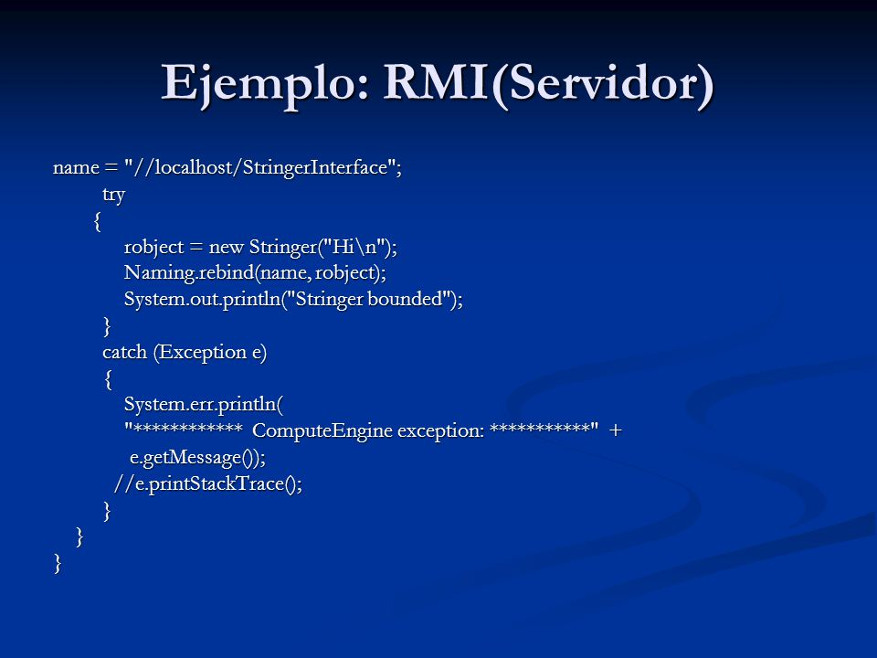 Ejemplo: RMI(Servidor)