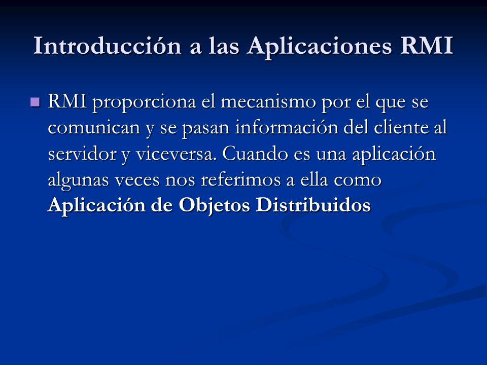 Introducción a las Aplicaciones RMI