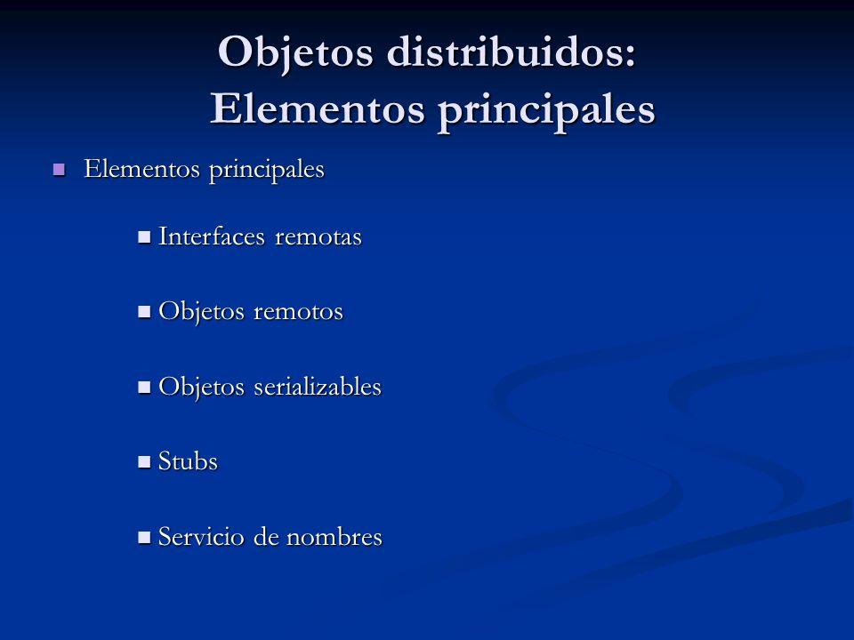 Objetos distribuidos: Elementos principales