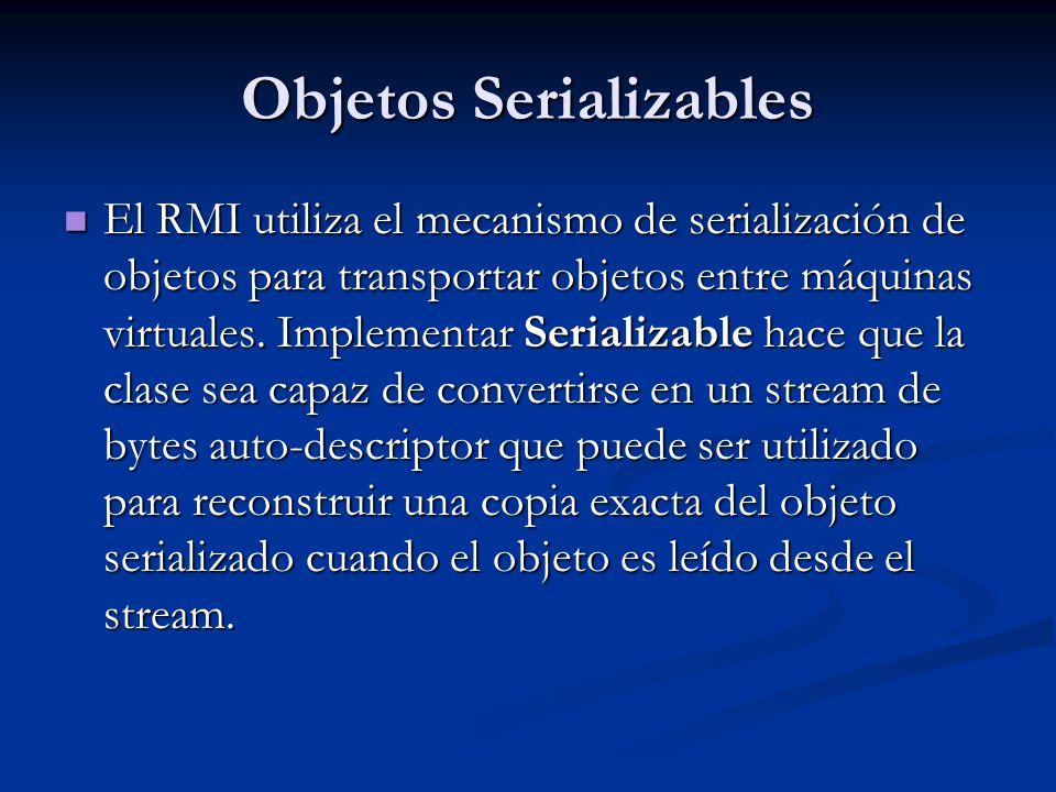 Objetos Serializables