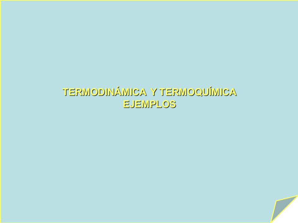 TERMODINÁMICA Y TERMOQUÍMICA