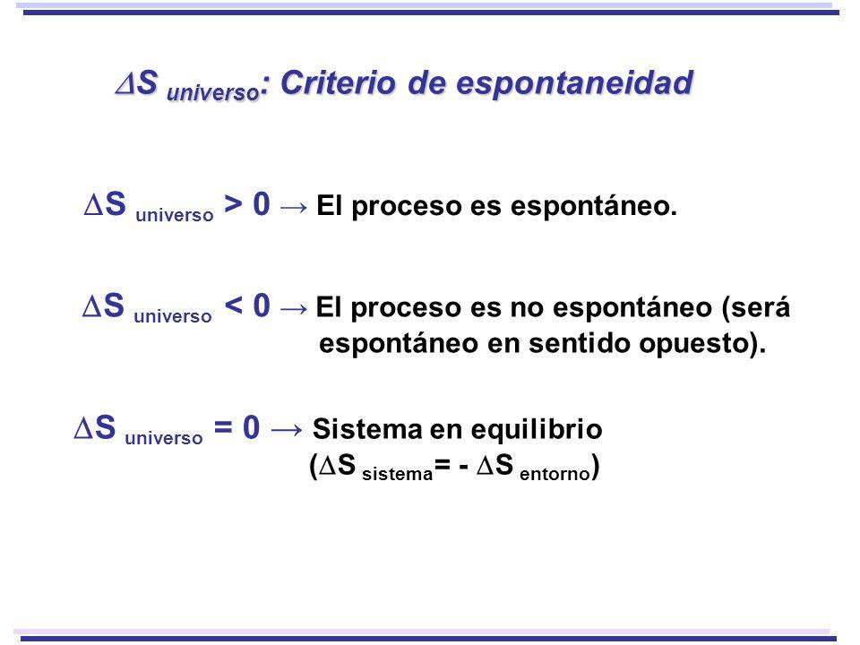 DS universo: Criterio de espontaneidad