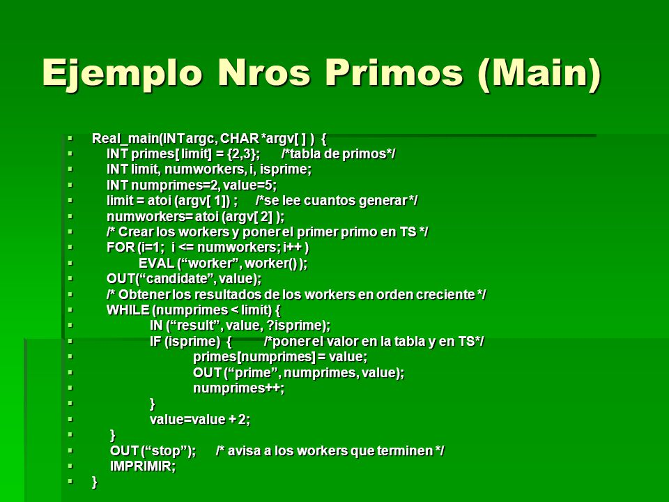 Ejemplo Nros Primos (Main)