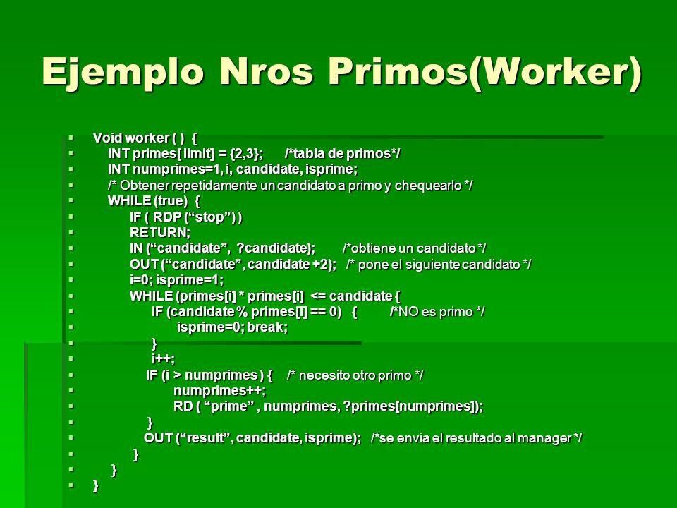 Ejemplo Nros Primos(Worker)