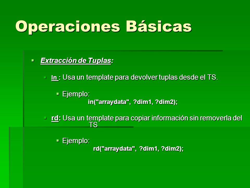 Operaciones Básicas Extracción de Tuplas: Ejemplo: