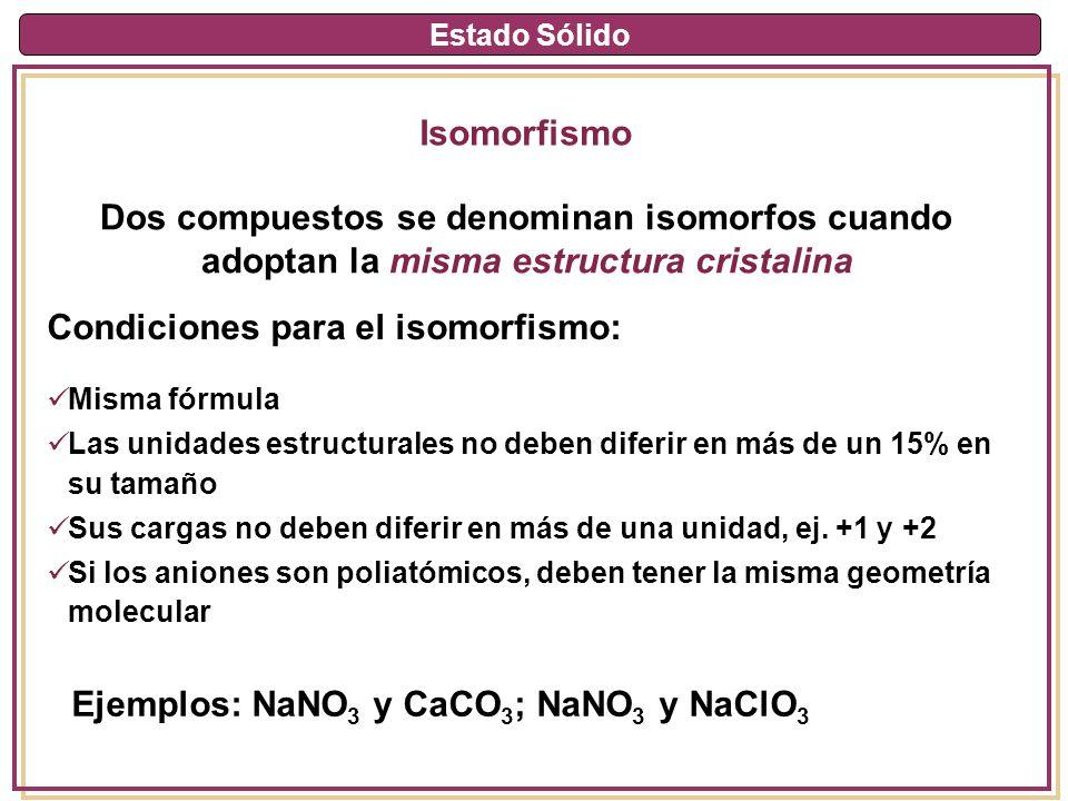 Dos compuestos se denominan isomorfos cuando