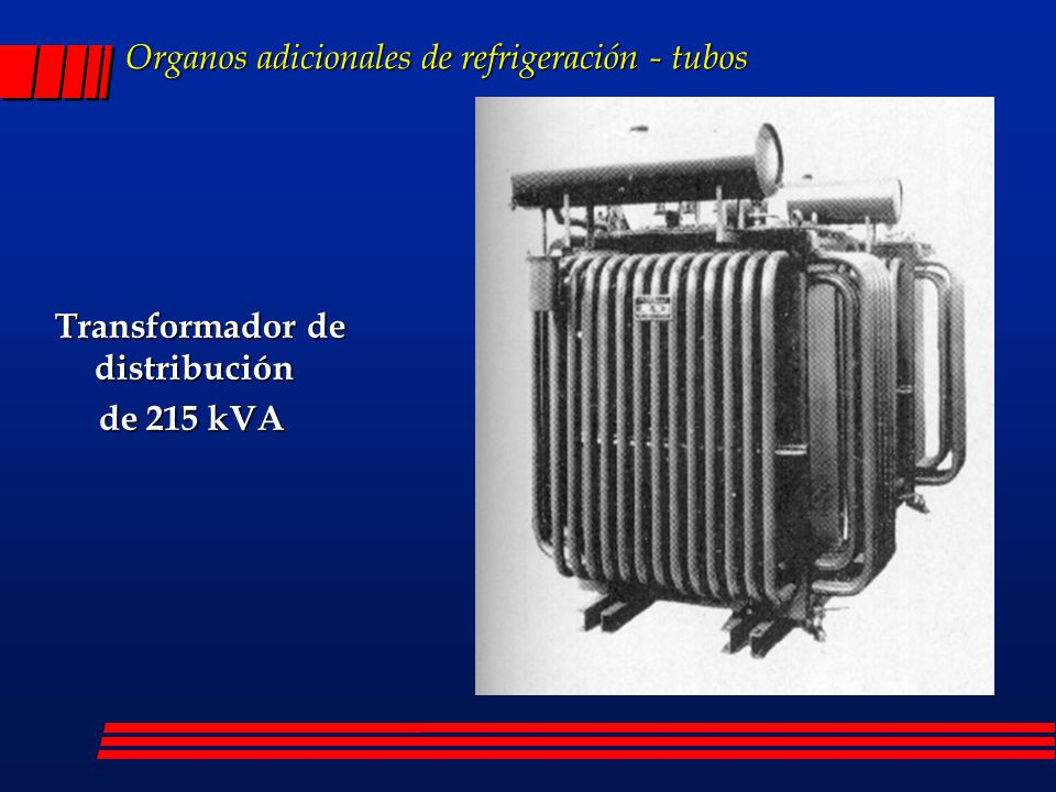 Organos adicionales de refrigeración - tubos