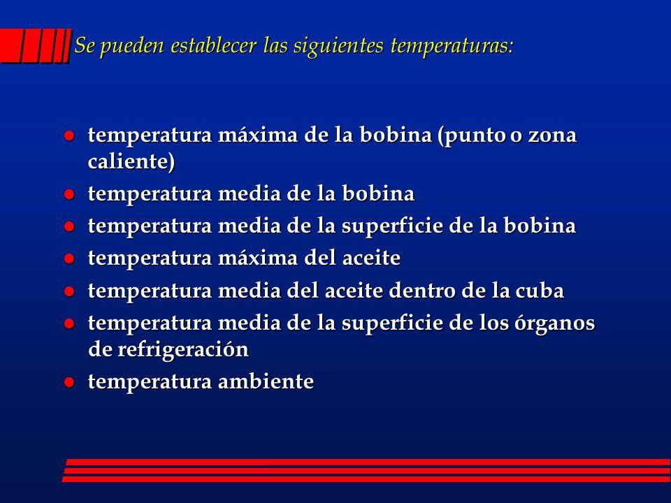 Se pueden establecer las siguientes temperaturas: