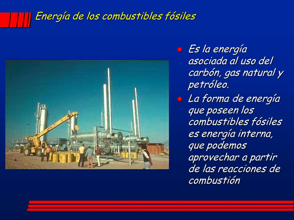 Energía de los combustibles fósiles