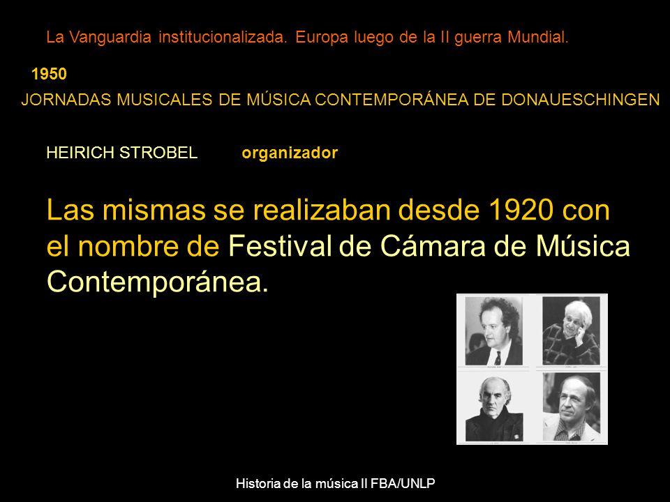 Historia de la música II FBA/UNLP