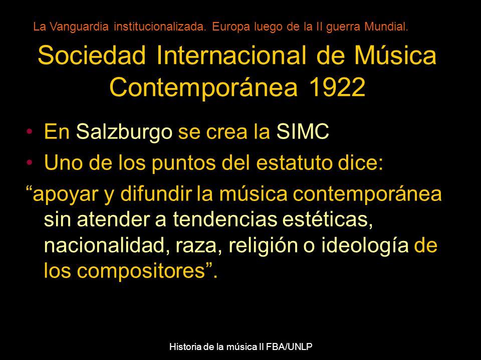 Sociedad Internacional de Música Contemporánea 1922