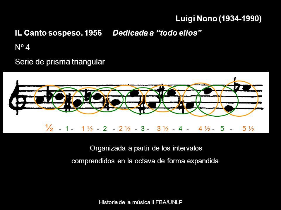 Luigi Nono (1934-1990) IL Canto sospeso. 1956 Dedicada a todo ellos Nº 4. Serie de prisma triangular.
