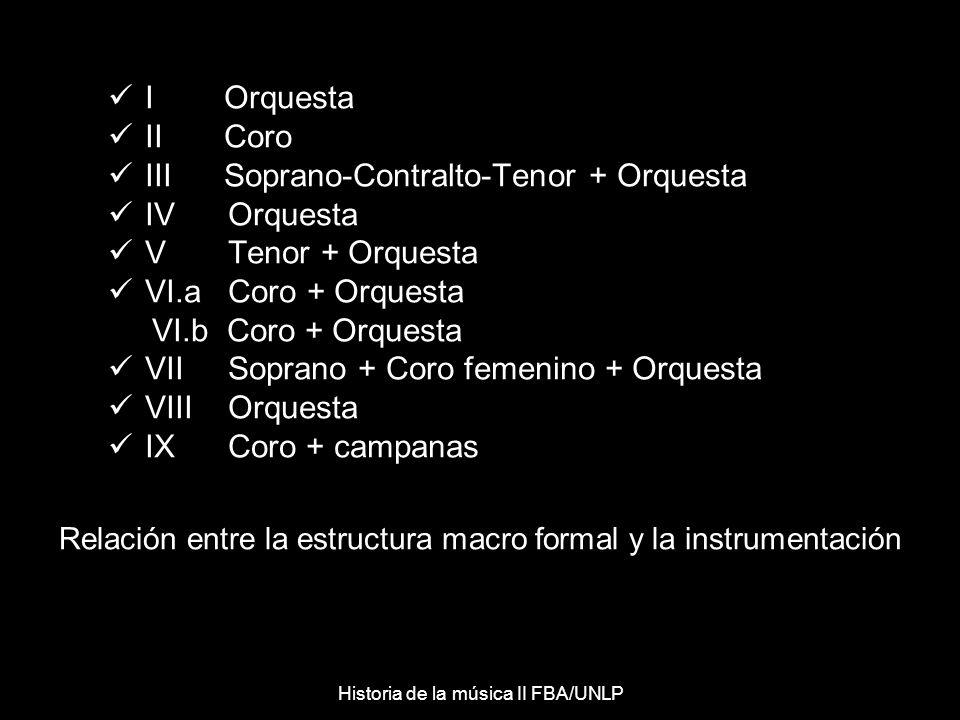 Relación entre la estructura macro formal y la instrumentación