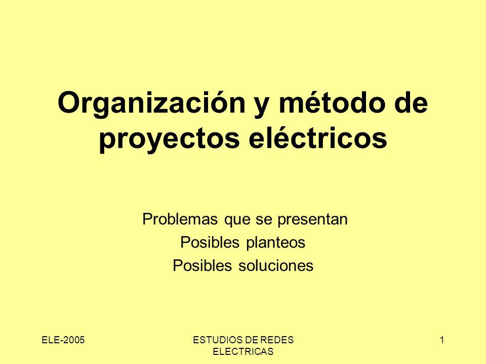 Organización y método de proyectos eléctricos