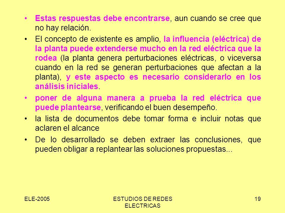 ESTUDIOS DE REDES ELECTRICAS