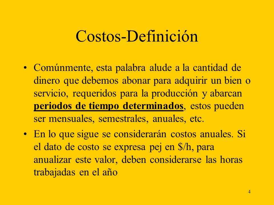 Costos-Definición