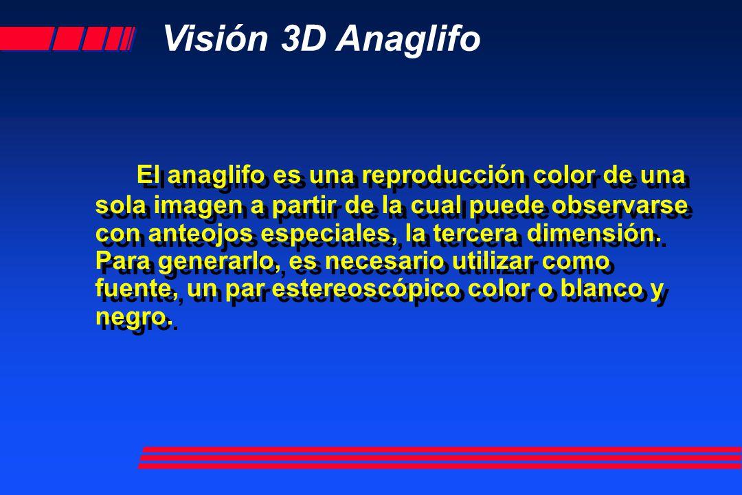 Visión 3D Anaglifo