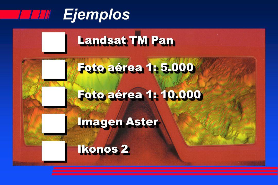 Ejemplos Landsat TM Pan Foto aérea 1: 5.000 Foto aérea 1: 10.000