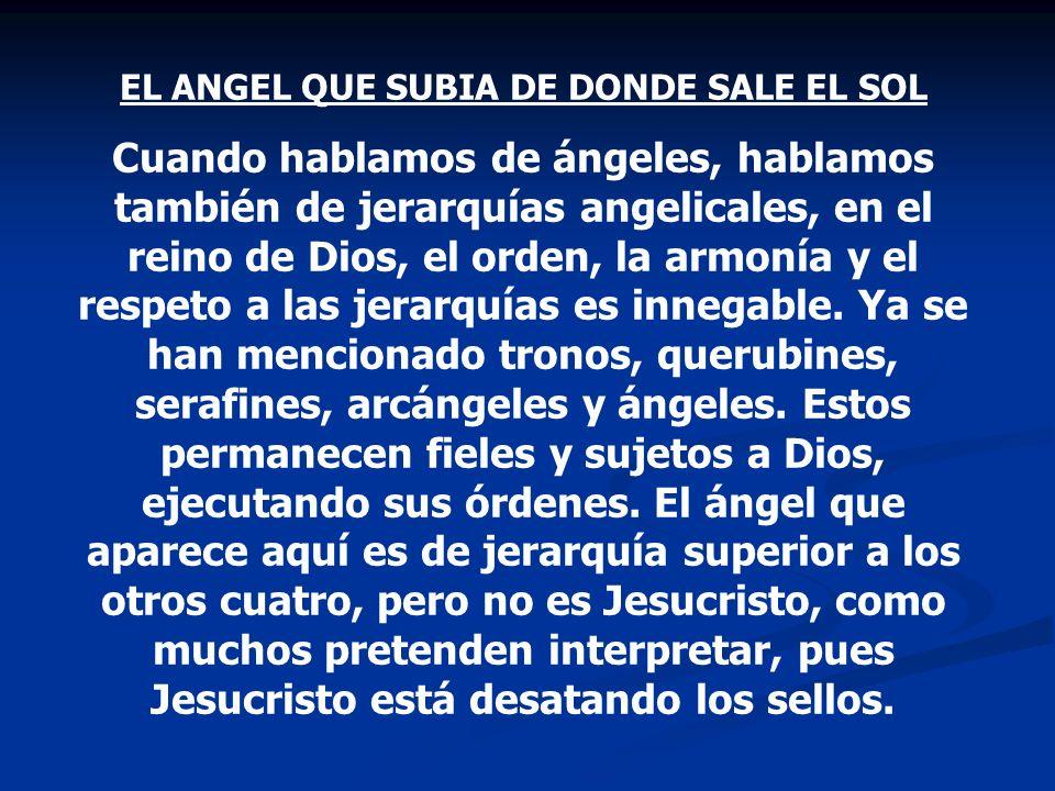 EL ANGEL QUE SUBIA DE DONDE SALE EL SOL