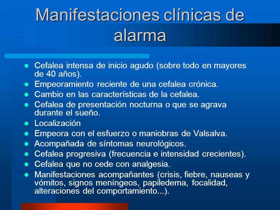 Manifestaciones clínicas de alarma