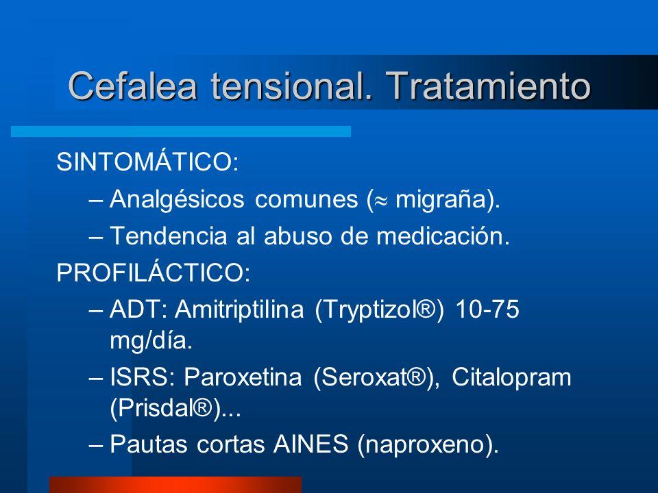 Cefalea tensional. Tratamiento