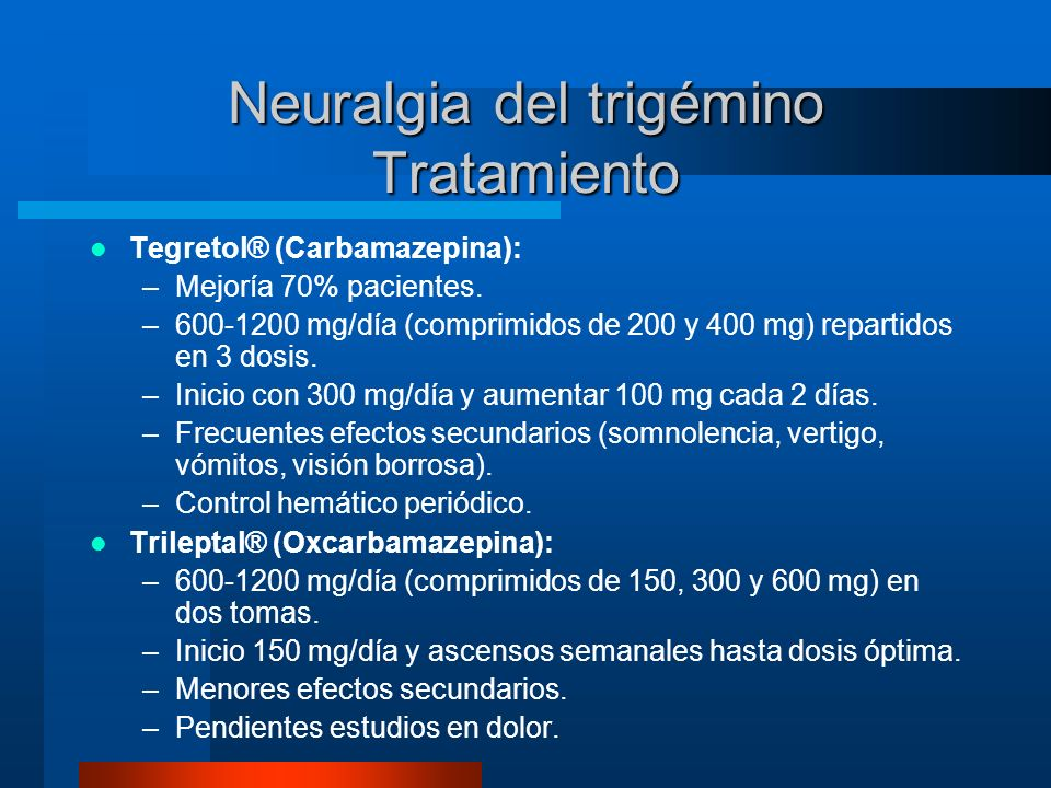 Neuralgia del trigémino Tratamiento
