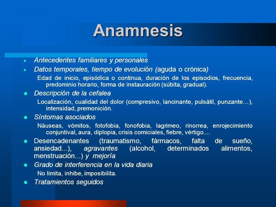 Anamnesis Antecedentes familiares y personales