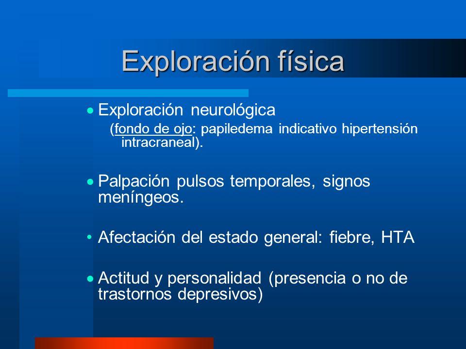 Exploración física Exploración neurológica