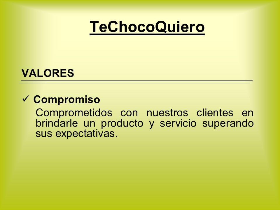 TeChocoQuiero VALORES Compromiso