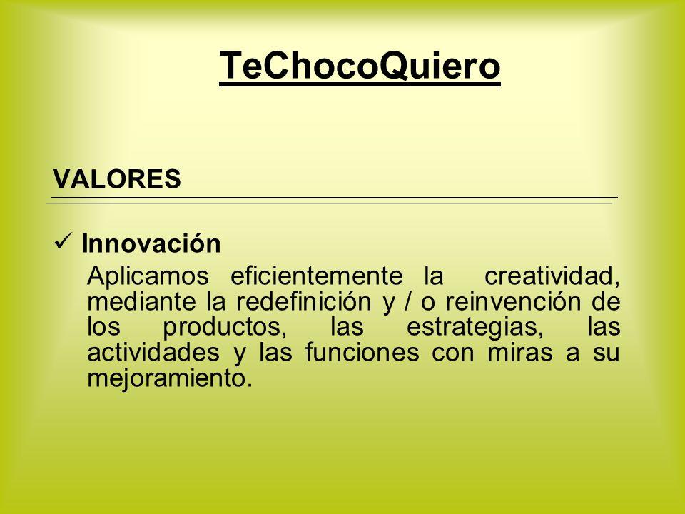 TeChocoQuiero VALORES Innovación