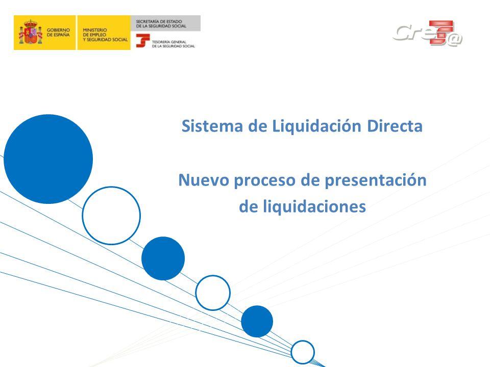 Sistema de Liquidación Directa Nuevo proceso de presentación