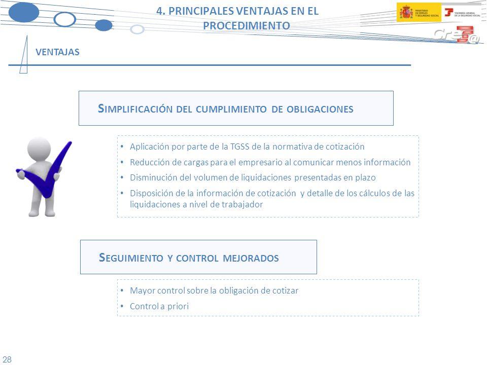 4. PRINCIPALES VENTAJAS EN EL PROCEDIMIENTO